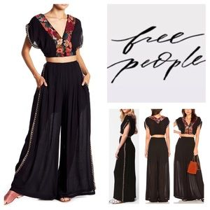 Free People Two-Piece Santoshi Pant Set.  NWT.